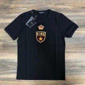 "Dolce&Gabbana Men Black Short Sleeve T-Shirt ""M"""
